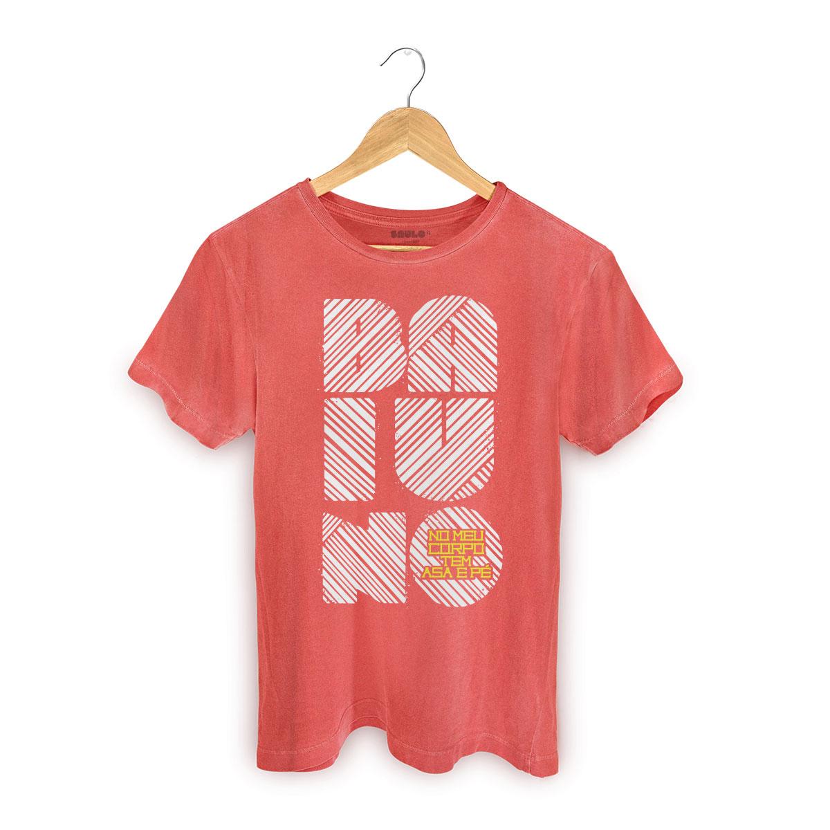T-shirt Premium Masculina Saulo No Meu Corpo Tem Asa e Pé