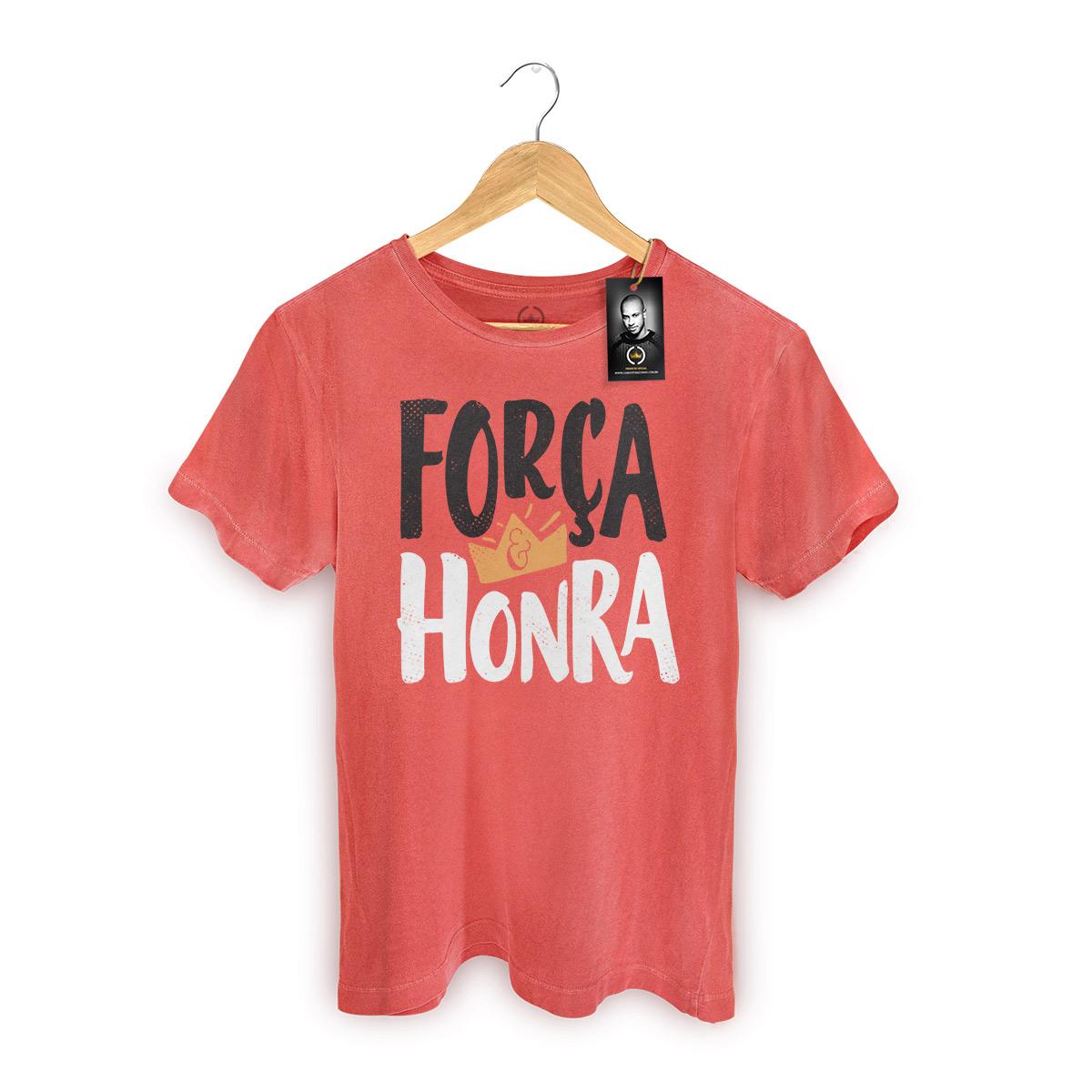 T-shirt Premium Masculina Thiaguinho Força e Honra