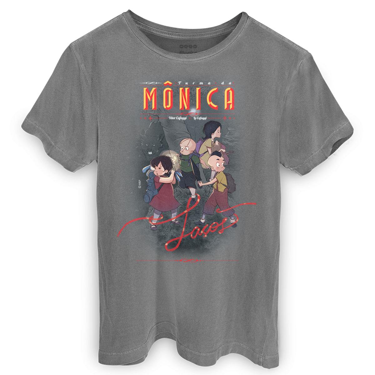 T-shirt Premium Masculina Turma da M�nica La�os