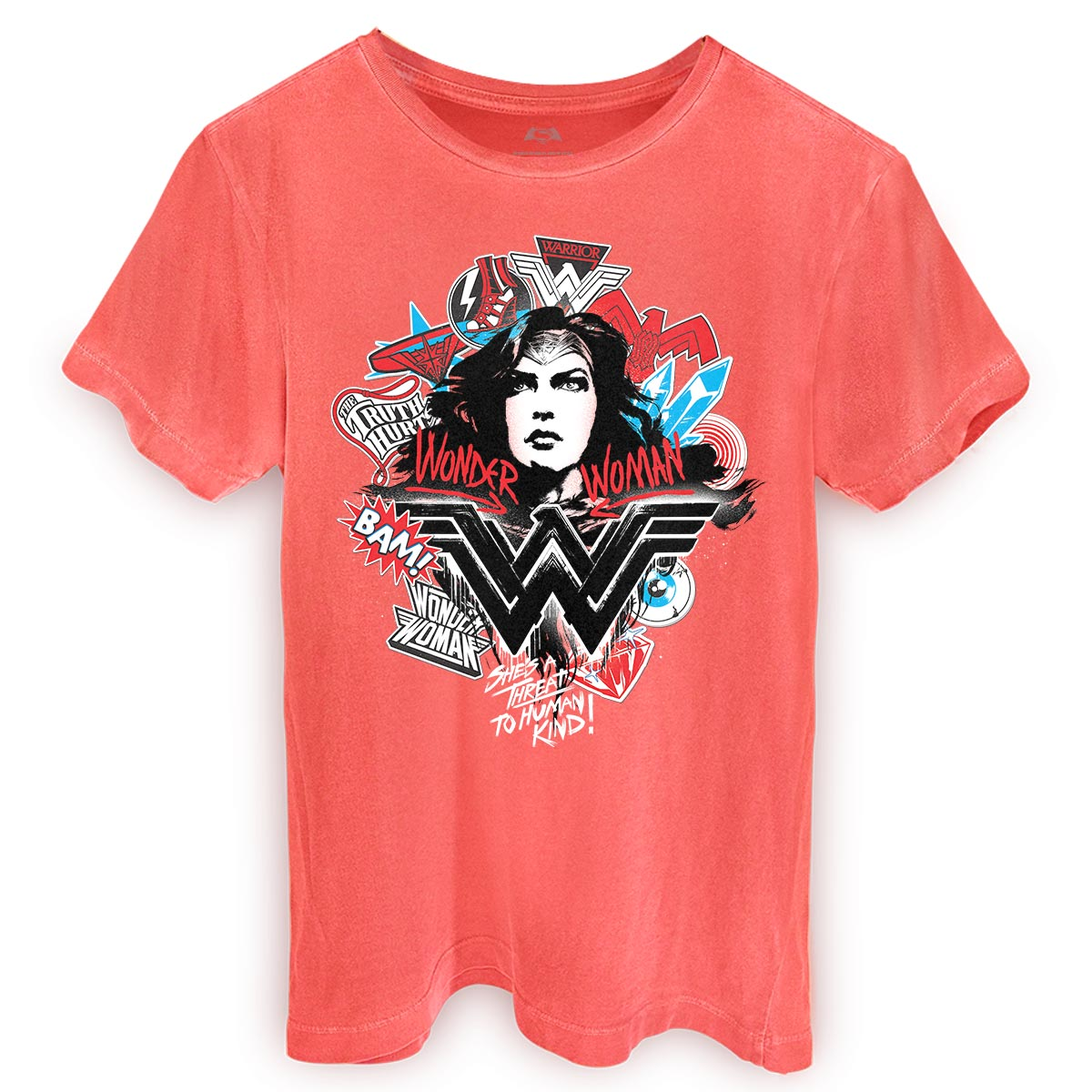 T-shirt Premium Masculina Wonder Woman She�s a Threat