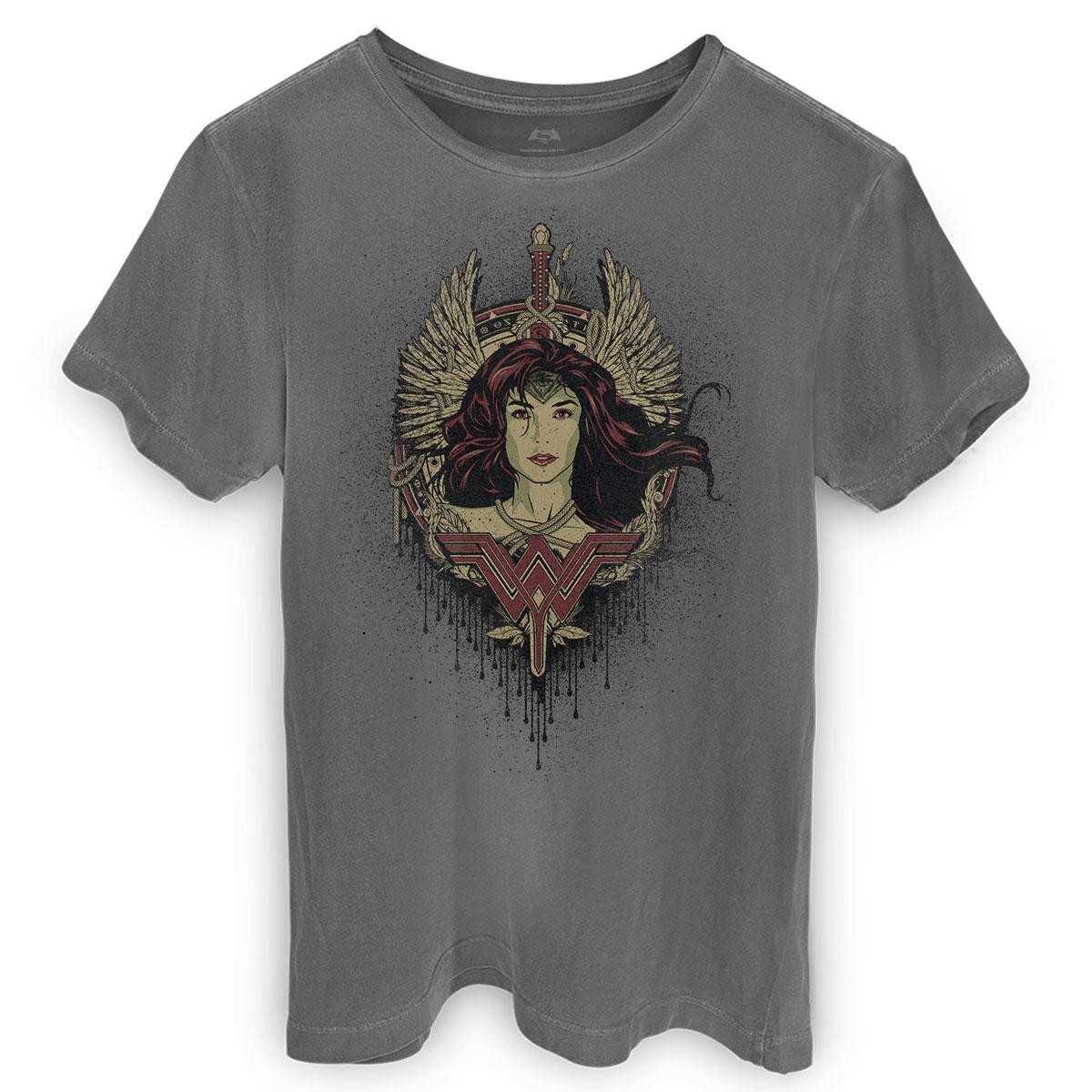 T-shirt Premium Masculina Wonder Woman Wonder Wings