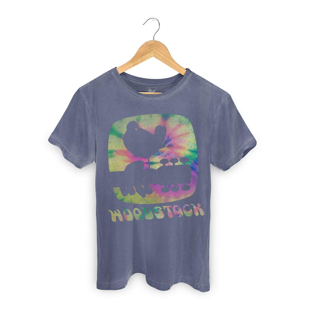 T-shirt Premium Masculina Woodstock Color Explosion