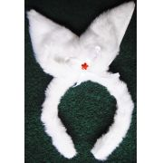 Tiara Coelhinha Branca  - referência 209/0207A