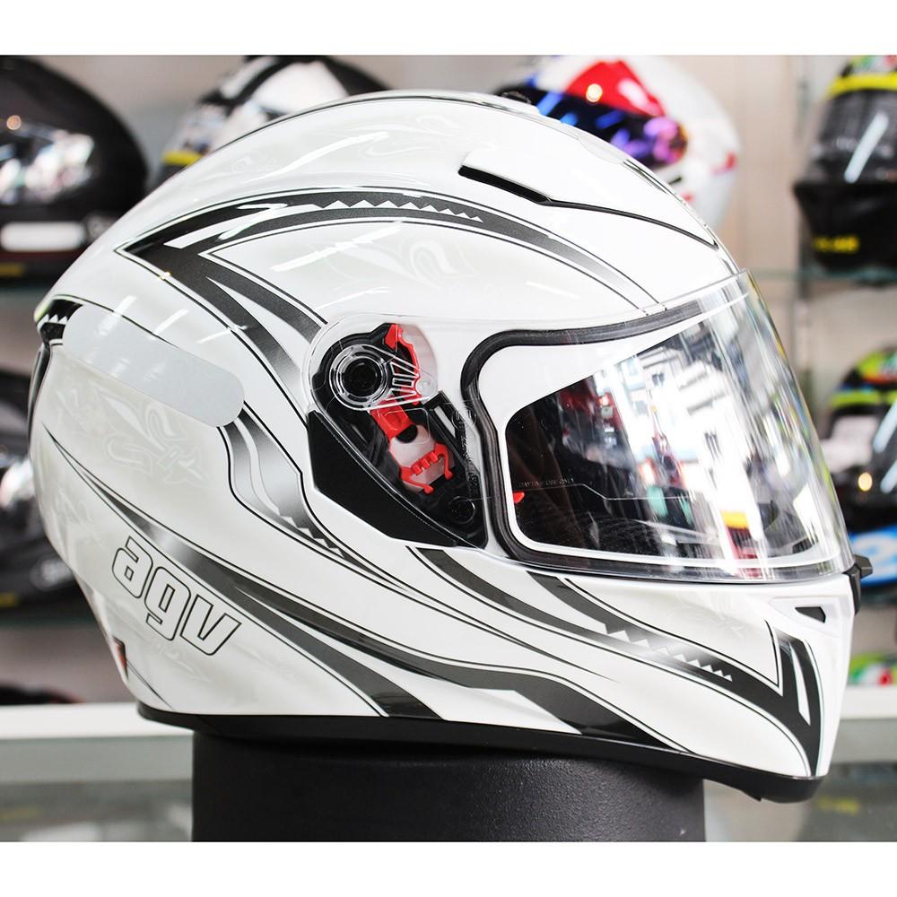 0 Capacete AGV K-3 SV Florence White C/ Viseira Interna Solar - Só 56  - Planet Bike Shop Moto Acessórios