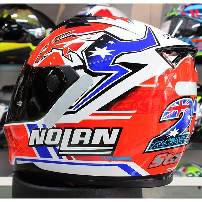 Capacete Nolan N64 Gemini Réplica Stoner Suzuka Metal White   - Planet Bike Shop Moto Acessórios