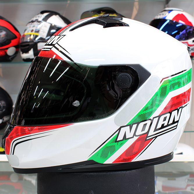 Capacete Nolan N64 Italy Metal White  - Planet Bike Shop Moto Acessórios