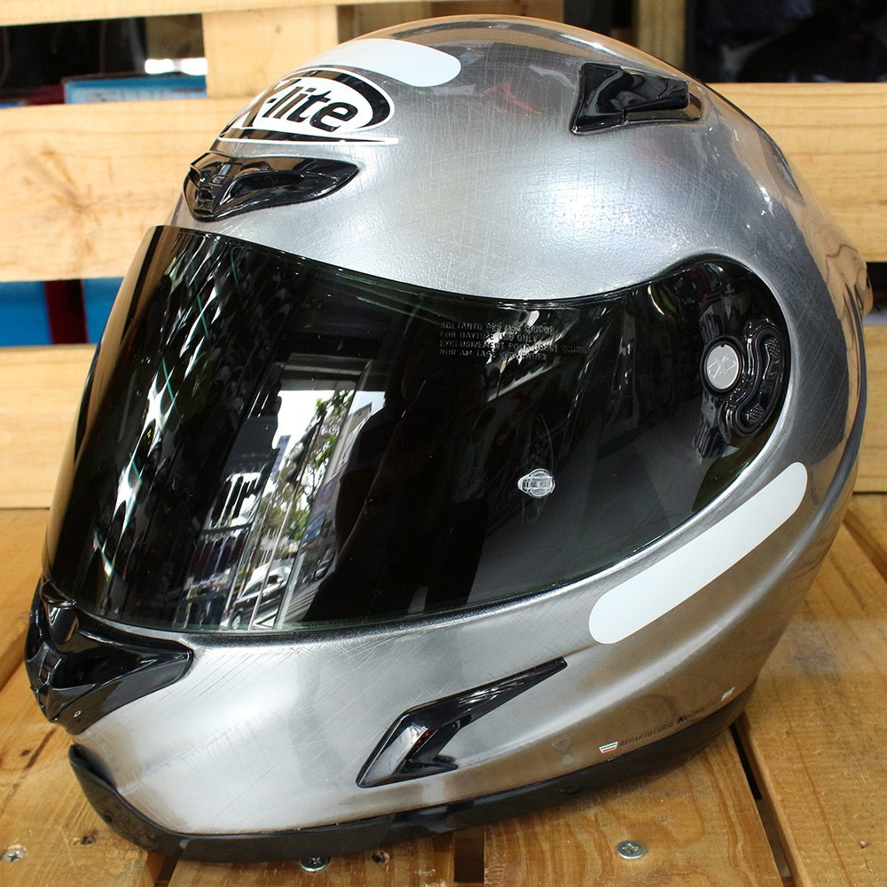 Capacete X-Lite X-802RR Ultra Carbon Start Scratched Chrome - Ganhe Balaclava Exclusiva!