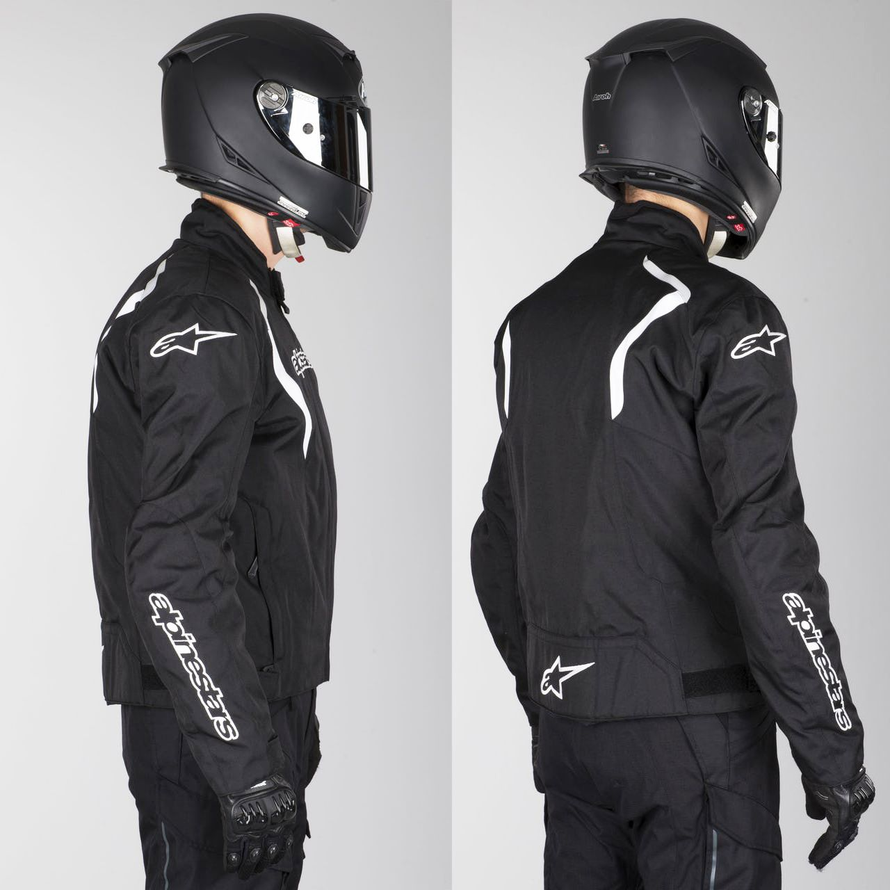 0 Jaqueta Alpinestars Fastback Impermeável (Preta/Branca)  - Planet Bike Shop Moto Acessórios