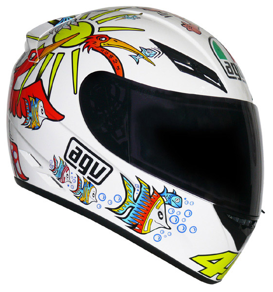 Capacete AGV K-3 Rossi White Zoo - Black Friday