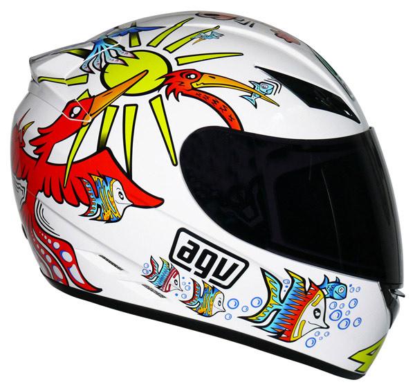 Capacete AGV K-3 Rossi White Zoo   - Planet Bike Shop Moto Acessórios