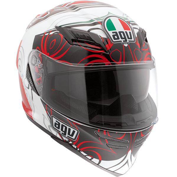 Capacete AGV Horizon Absolut White Red - Só 62 -XL (Obs: Capacete com pequenos detalhes - consulte nossos atendentes)  - Planet Bike Shop Moto Acessórios