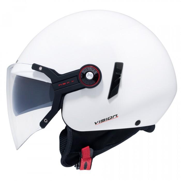 Capacete Nexx X60 Vision Flex Branco C/ Viseira solar  - Planet Bike Shop Moto Acessórios