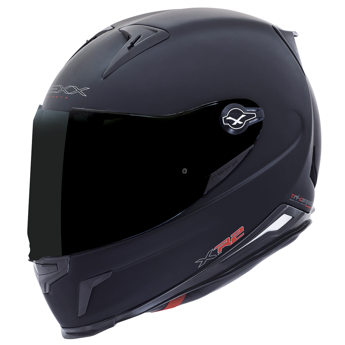 ... Capacete Nexx XR2 Plain Preto Brilho Tri-Composto - Planet Bike Shop  Moto Acessórios ... a571094b27f
