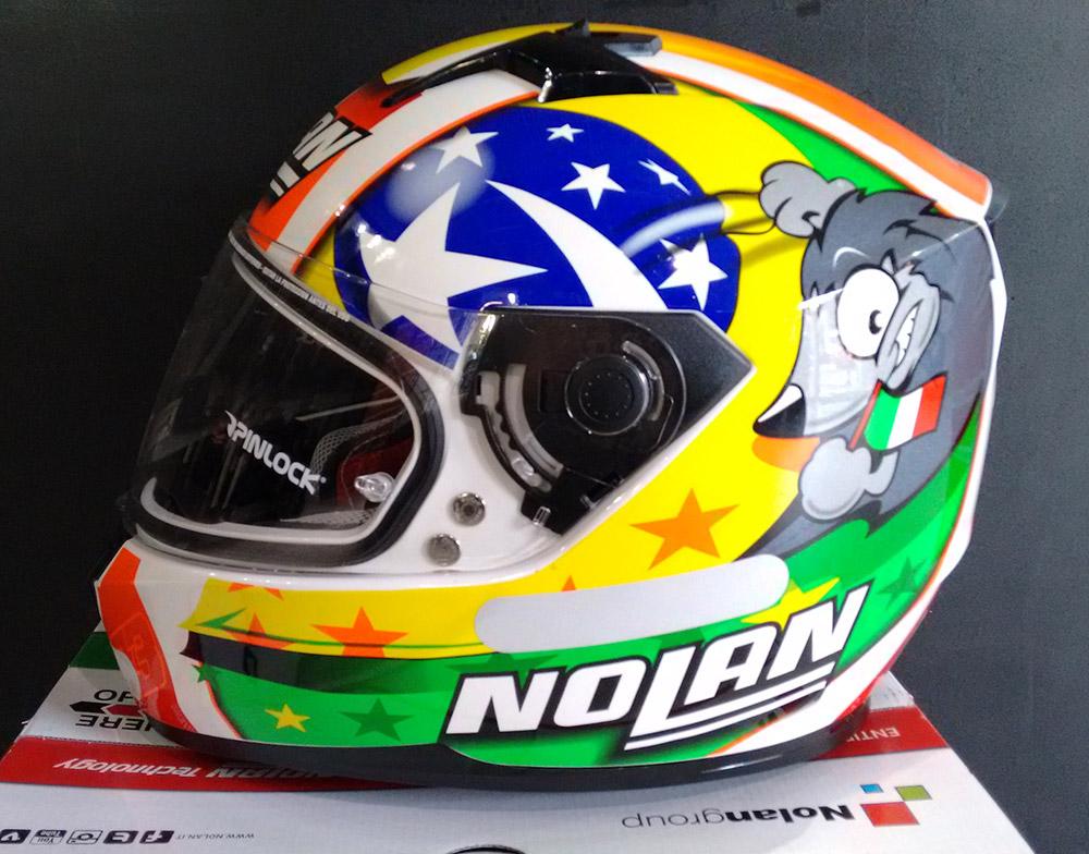 Capacete Nolan N64 Réplica Melandri Misano   - Planet Bike Shop Moto Acessórios