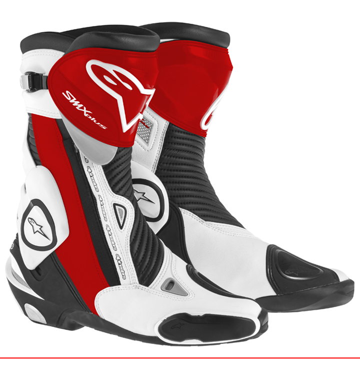 Bota Alpinestars Smx Plus Vermelha e Branca 2015