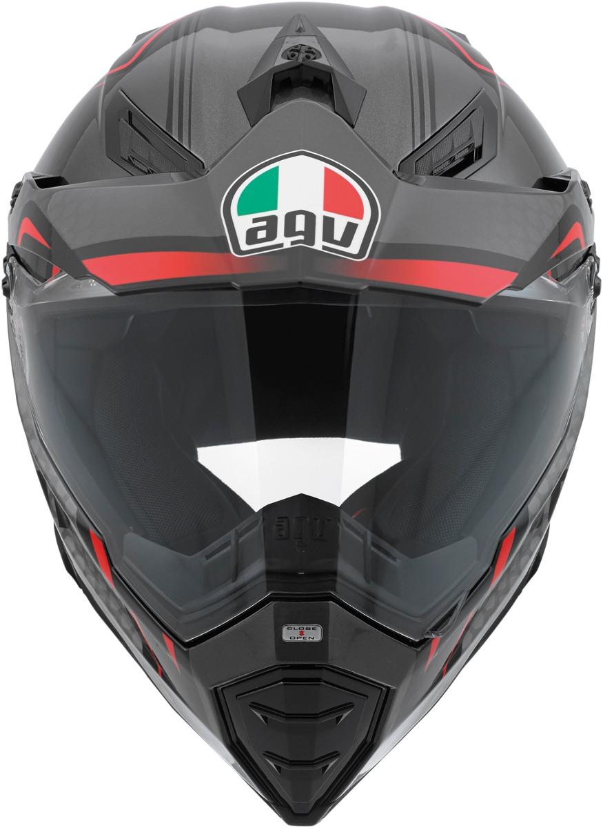 ... Capacete AGV AX8 Duo Evo Gloss Red Silver Black - Planet Bike Shop Moto  Acessórios ... 4348318fba9