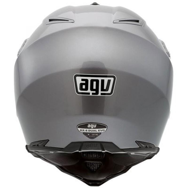 Capacete AGV AX8 Duo Evo Mono Titanium   - Planet Bike Shop Moto Acessórios