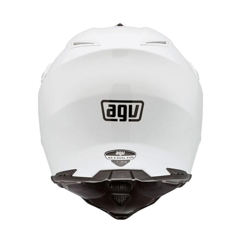 Capacete AGV AX8 Duo Evo Mono White   - Planet Bike Shop Moto Acessórios