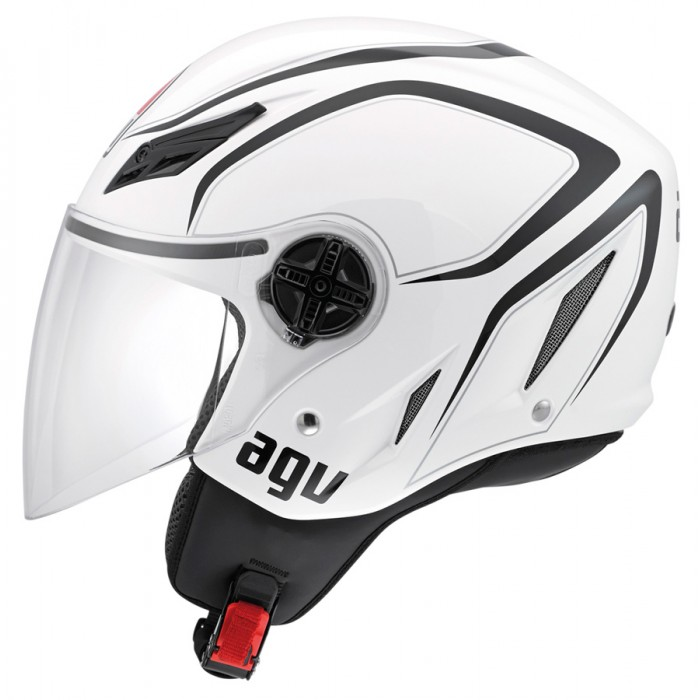 Capacete AGV Blade Tab White/Black  - Planet Bike Shop Moto Acessórios