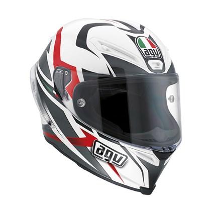 0 Capacete AGV Corsa Velocity Branco Preto Vermelho