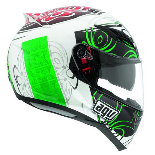 Capacete AGV Horizon Absolut Verde -SÓ XL-62 (Obs: capacete com pequenos detalhes - consulte nossos atendentes)  - Planet Bike Shop Moto Acessórios