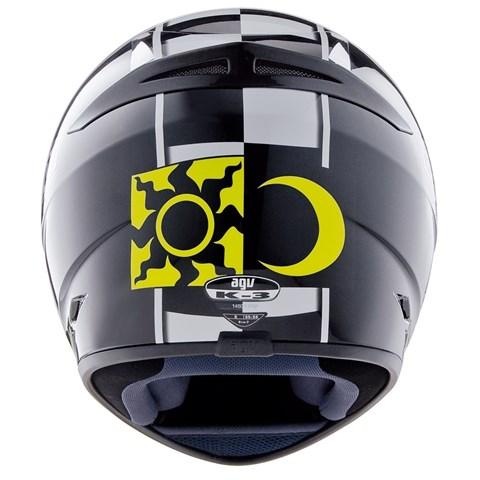 Capacete AGV K-3 Celebr 8 Valentino Rossi PRETO   - Planet Bike Shop Moto Acessórios