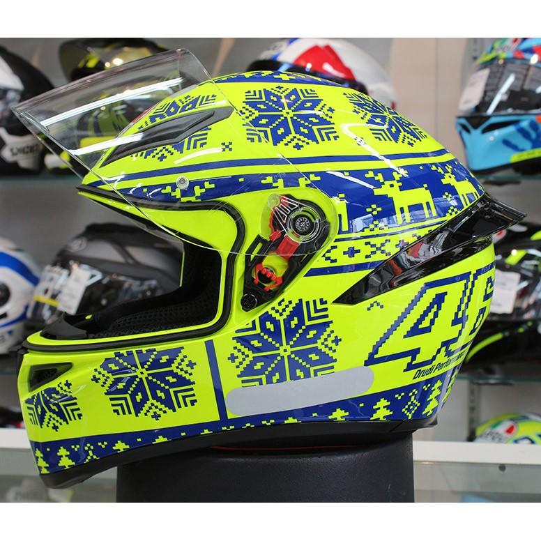 Capacete AGV K-1 Winter Test 15 Valentino Rossi (k1 - COM + 1,00 LEVE JUNTO A TOUCA BALACLAVA)