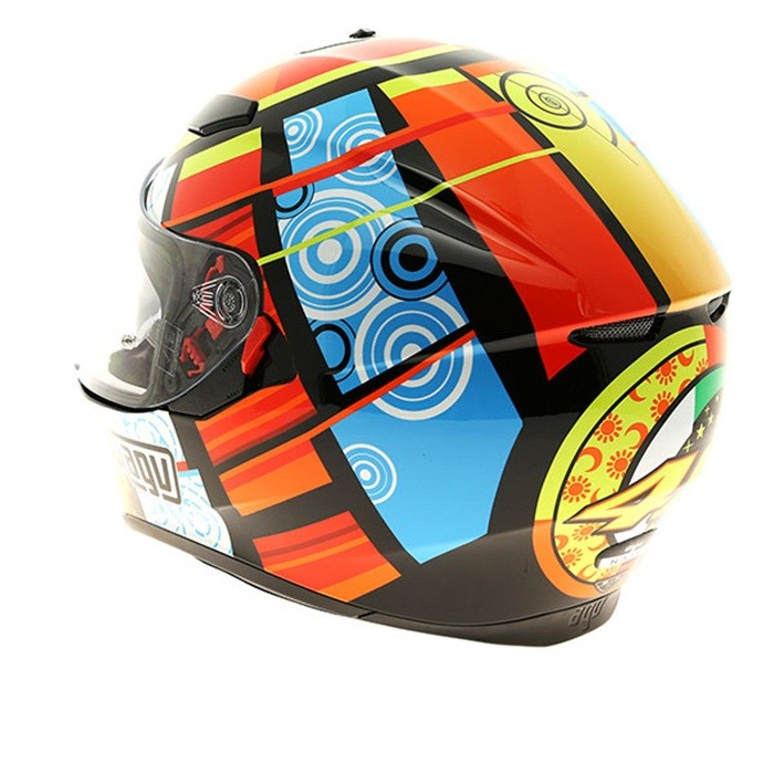 Capacete AGV K-3 SV Elements Valentino Rossi C/ Viseira Interna Solar  - Planet Bike Shop Moto Acessórios