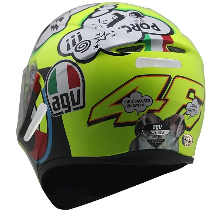 Capacete AGV K-3 SV Misano Valentino Rossi C/ Viseira Interna Solar - Só 60 e 62  - Planet Bike Shop Moto Acessórios