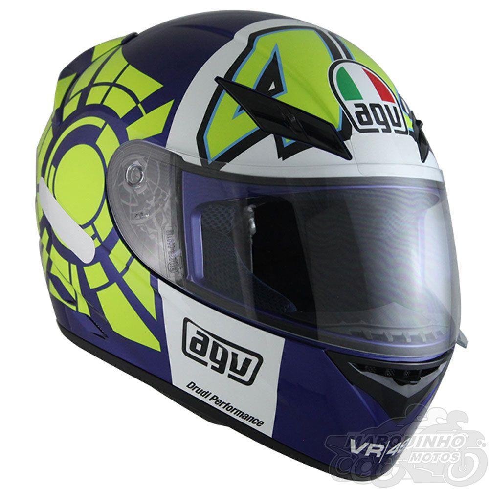 Capacete AGV K-3 Winter Test 2012 Valentino Rossi   - Planet Bike Shop Moto Acessórios