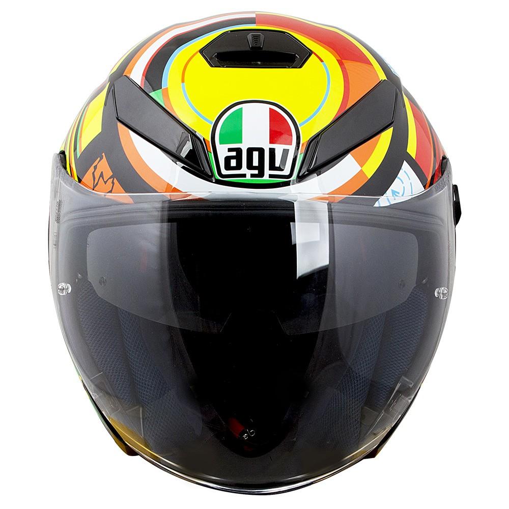 Capacete AGV K-5 Jet Elements Valentino Rossi - Aberto - NOVO!   - Planet Bike Shop Moto Acessórios