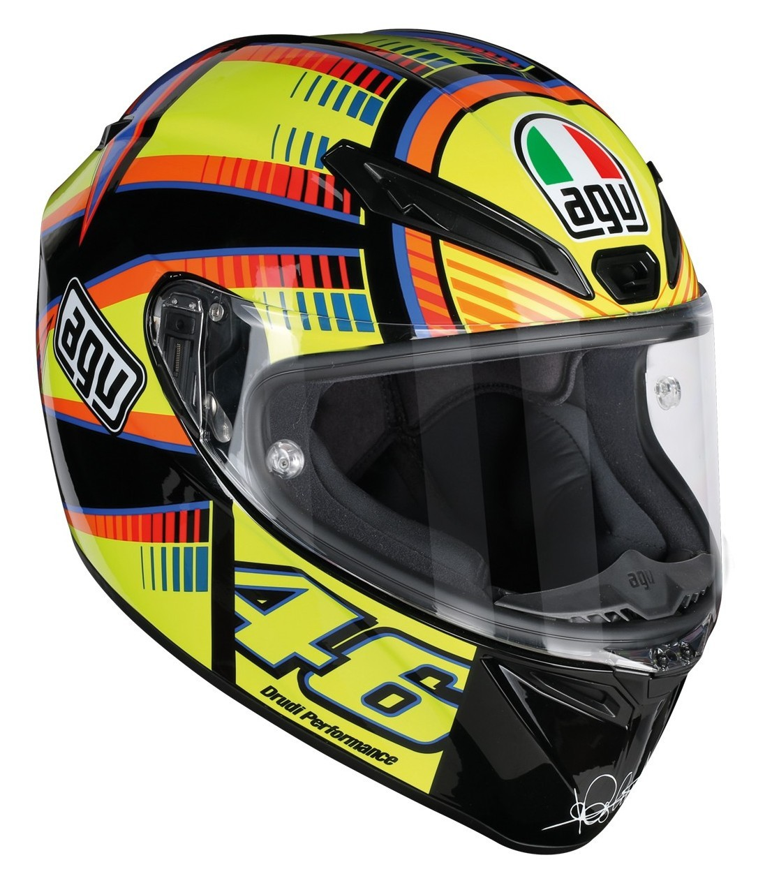 Capacete AGV Veloce Soleluna Valentino Rossi Oficial  - Planet Bike Shop Moto Acessórios