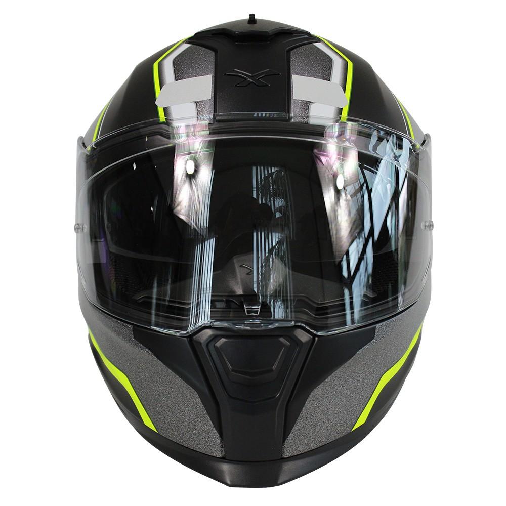 Capacete Nexx SX100 Blast Neon C/ Viseira Solar   - Planet Bike Shop Moto Acessórios