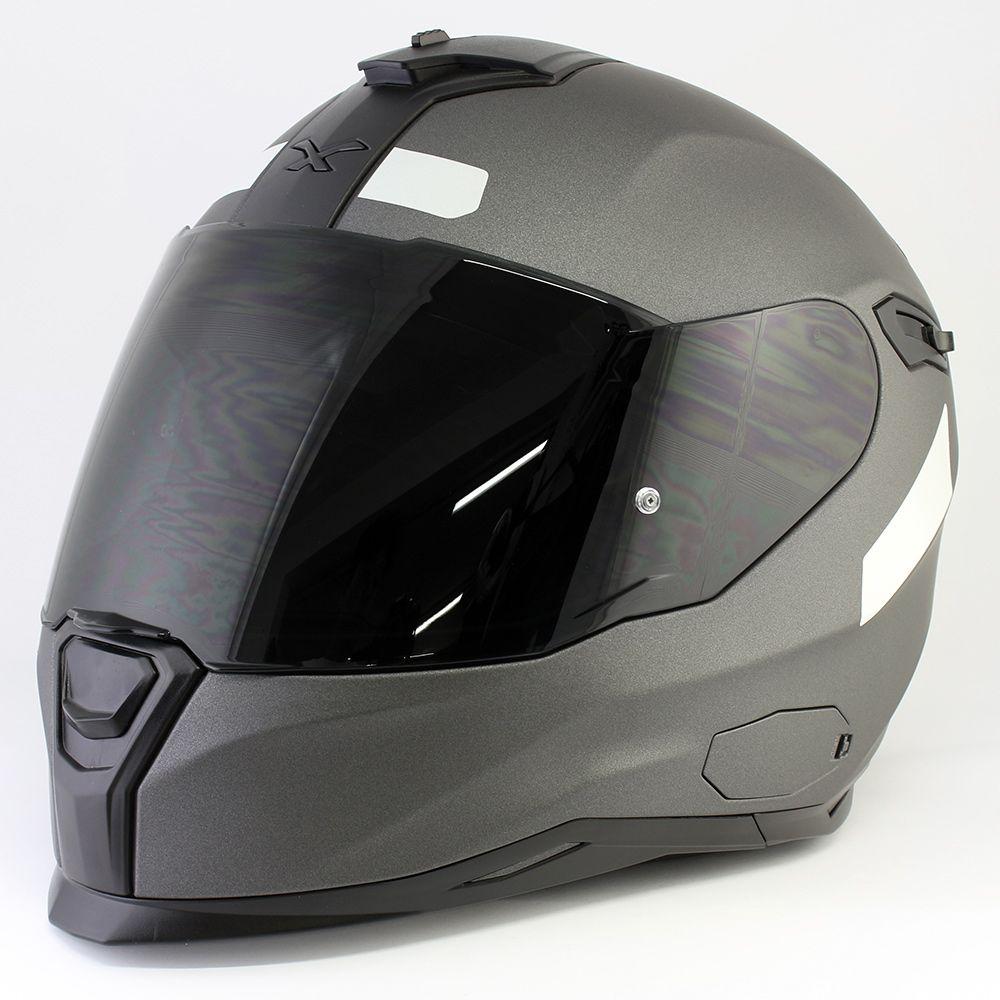 Capacete Nexx SX100 Core Edition D.Grey C/ Viseira Solar  - Planet Bike Shop Moto Acessórios