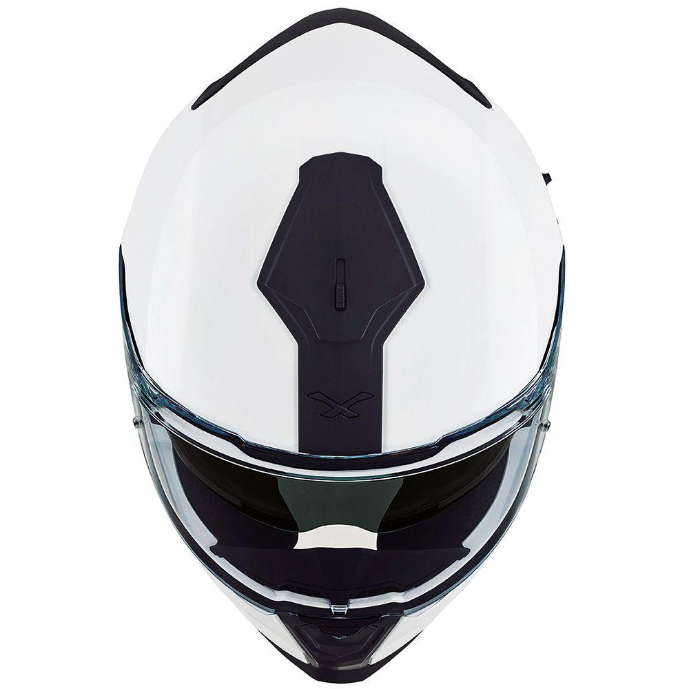 Capacete Nexx SX100 Core Edition White C/ Viseira Solar   - Planet Bike Shop Moto Acessórios