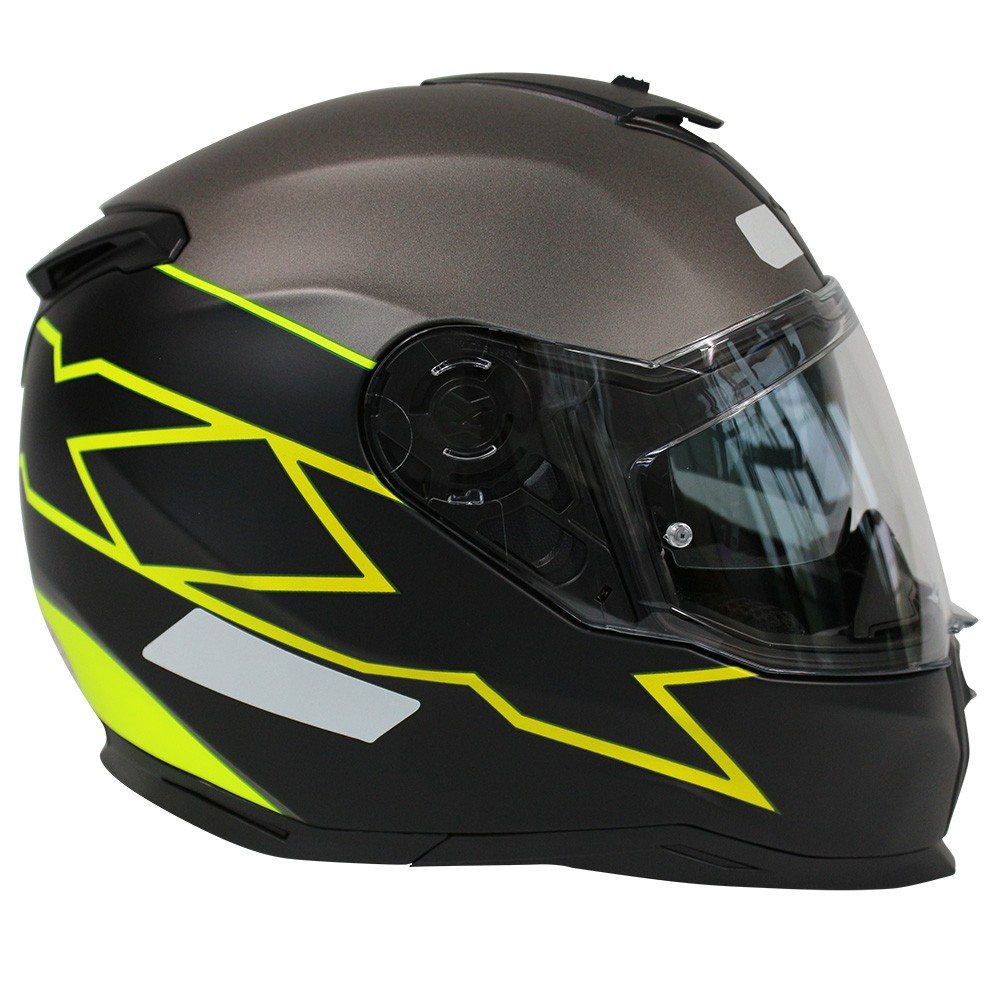 CAPACETE NEXX SX100 ORION NEON AMARELO/PRETO FOSCO  - Planet Bike Shop Moto Acessórios