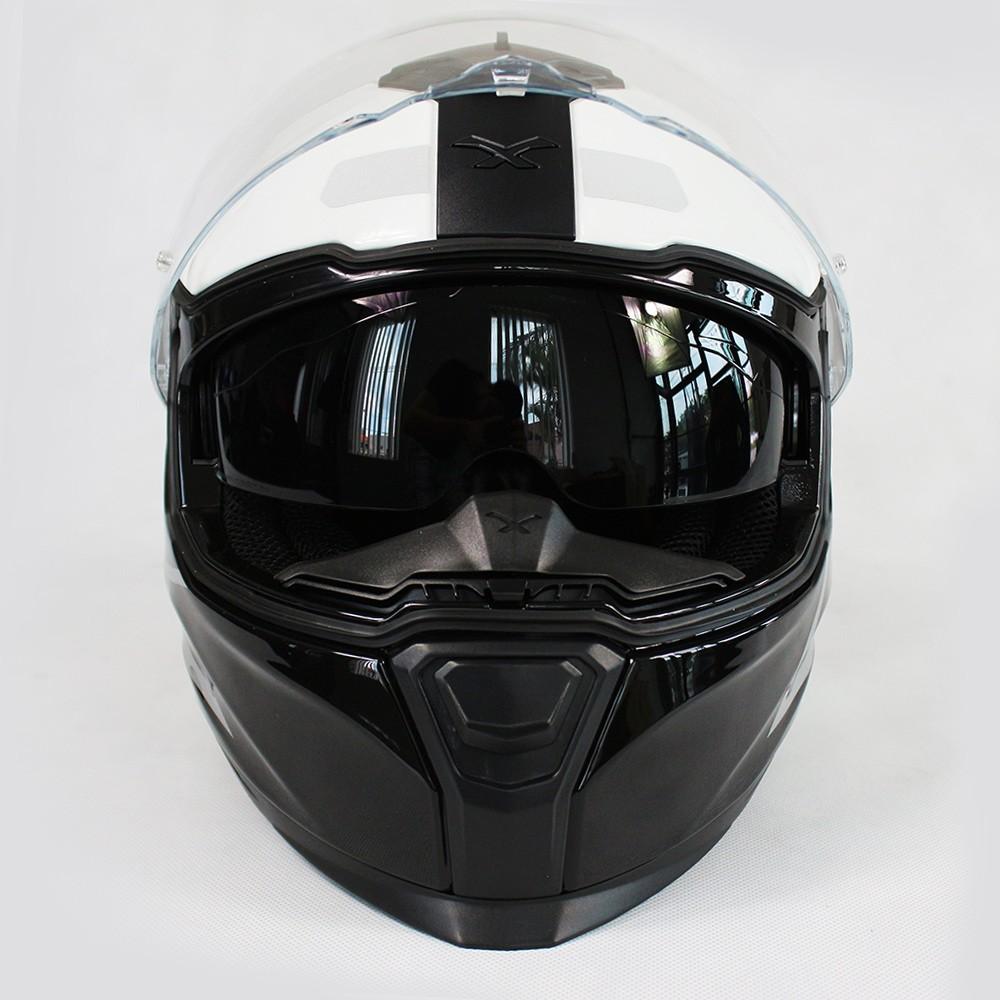 CAPACETE NEXX SX100 ORION PRETO/BRANCO/VERMELHO  - Planet Bike Shop Moto Acessórios