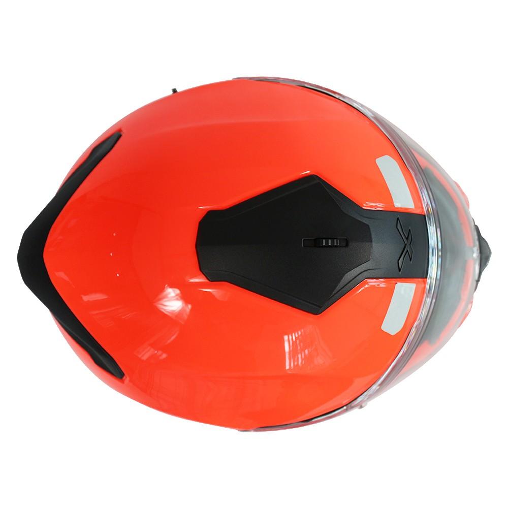 CAPACETE NEXX SX100 PLAIN LARANJA NEON - Com Viseira Solar   - Planet Bike Shop Moto Acessórios