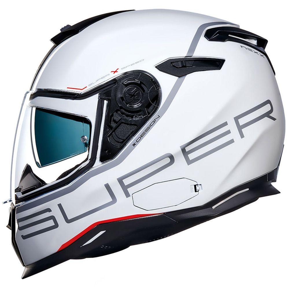 Capacete Nexx SX100 Super Speed White C/ Viseira Solar