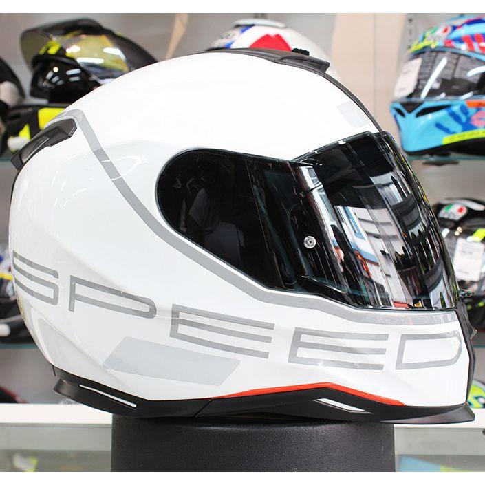 Capacete Nexx SX100 Super Speed White C/ Viseira Solar  - Planet Bike Shop Moto Acessórios