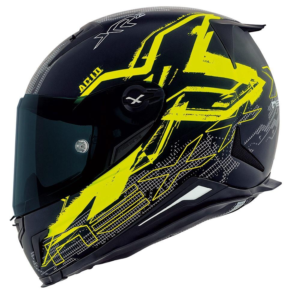 Capacete Nexx XR2 Acid Neon Amarelo Tri-Composto  - Planet Bike Shop Moto Acessórios