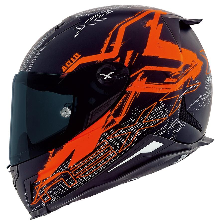 Capacete Nexx XR2 Acid Neon Laranja Tri-Composto  - Planet Bike Shop Moto Acessórios