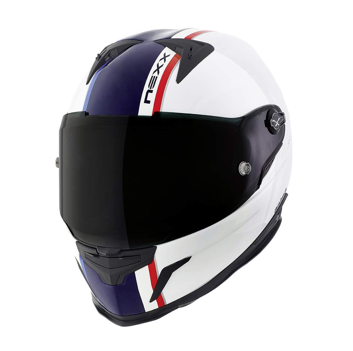 Capacete Nexx XR2 Anima Branco/Azul Tri-Composto  - Mês do Motociclista  - Planet Bike Shop Moto Acessórios