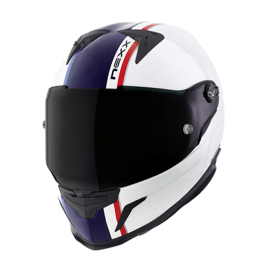 Capacete Nexx XR2 Anima Branco/Azul Tri-Composto  - Mês do Motociclista