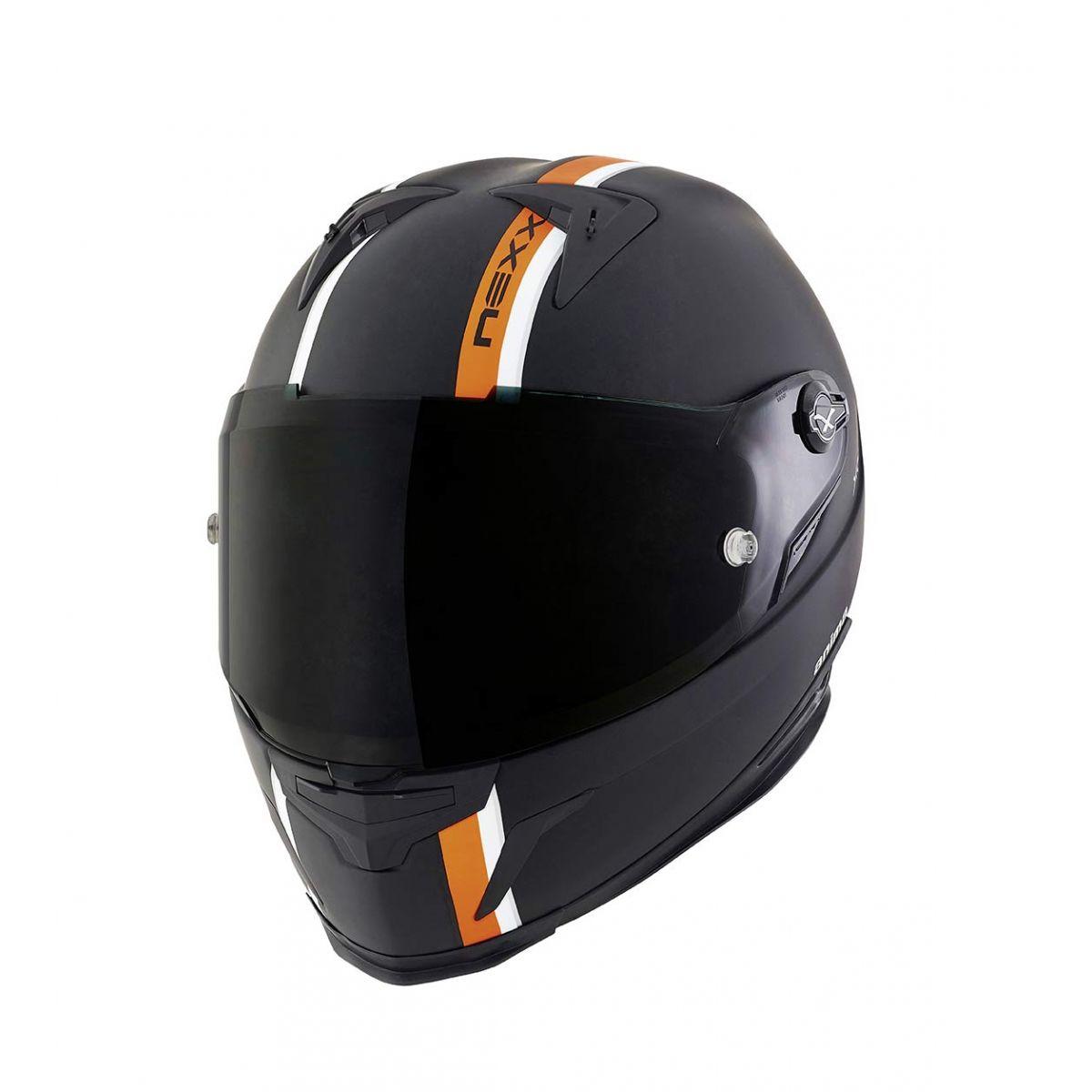 Capacete Nexx XR2 Anima Preto c/ Laranja Tri-Composto