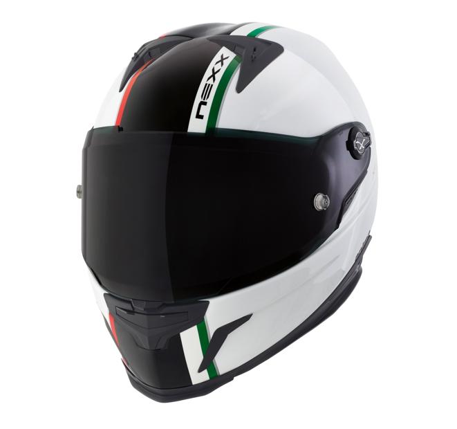 Capacete Nexx XR2 Anima White/ Black Itália Tri-Composto - Mês do Motociclista