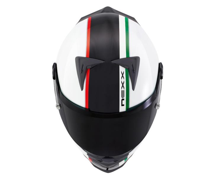 Capacete Nexx XR2 Anima White/ Black Itália Tri-Composto   - Planet Bike Shop Moto Acessórios