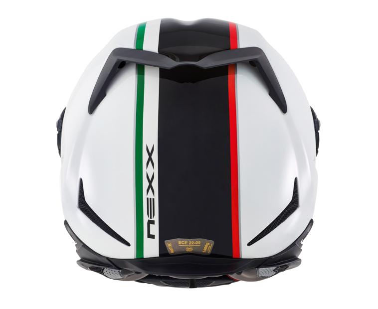 Capacete Nexx XR2 Anima White/ Black Itália Tri-Composto - Mês do Motociclista  - Planet Bike Shop Moto Acessórios