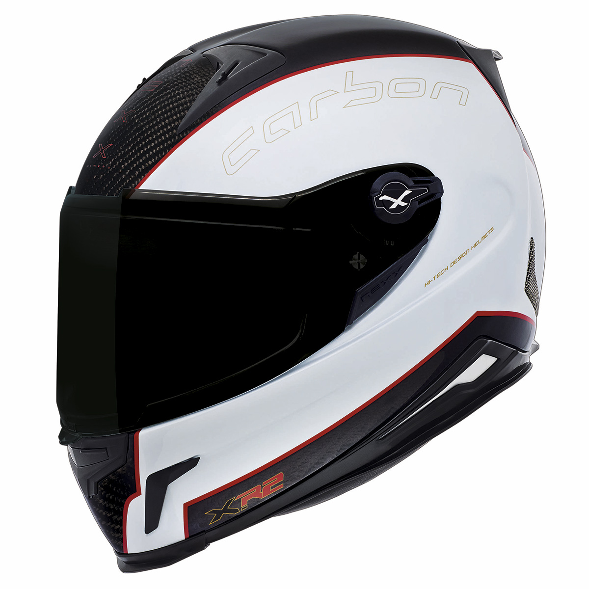 Capacete Nexx XR2 Carbon Branco Tri-Composto  - NOVO!