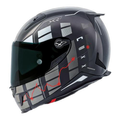 CAPACETE NEXX XR2 VIRUS BLACK Tri-Composto   - Planet Bike Shop Moto Acessórios